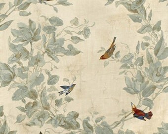 Bird and Floral Drapery-Bird Theme Curtains, Lined, Unlined, or Blackout lined, Sold in Pairs