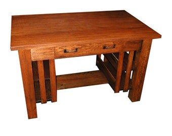 4850 Charming Antique Oak Mission Table