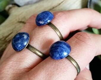 Sodalite gemstone ring