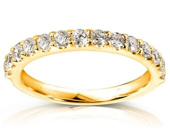 Ladies Diamond Wedding Band 1/2ctw 14K Yellow Gold