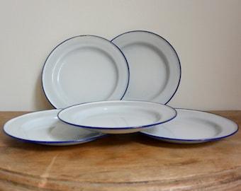 K.E.R Sweden Enamelware Plates