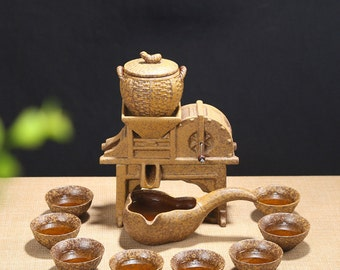 Dehua Porcelain Classical Style Semi-automated Porcelain Teapot Tea Set
