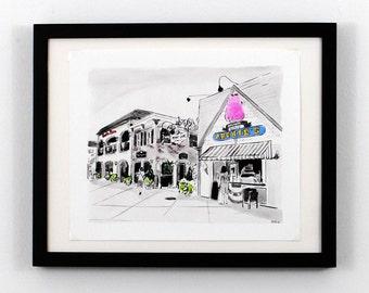 Rehoboth Beach DE Art - Penny Lane Print