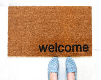 Custom Doormat. Personalized Doormat. Welcome Mat. Home. Hello. Wedding Gift.