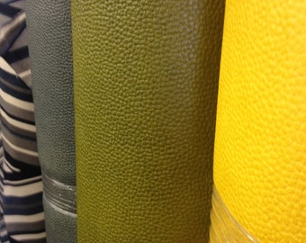 Nuvo Air Lizard Avocado Textured Faux Leather Fabric for chairs, pillows, handbags, ottomans, headboards, and crafts.