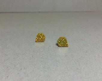 SALE Laser cut acrylic earrings, diamond shape earrings, gold glitter, gold earrings, gold glitter earrings, cute earrings, sparkly earrings