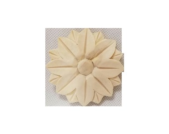 Wood Carving Round Rosette