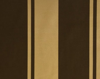 FABRIC SALE - Sunbrella - Brown - Tan - Wide Stripe - Upholstery Fabric by the Yard