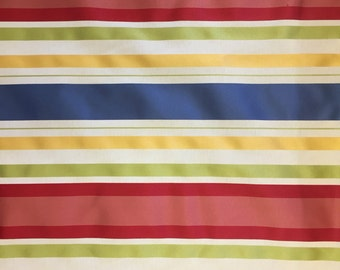 Primary Color Stripe - Upholstery Fabric by the Yard