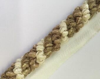 Ribbon Cord - Gold - Cream - Trim By The Yard