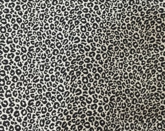Black and White Leopard Print - Animal Print Fabric - Upholstery Fabric by the Yard