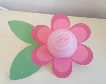 PDF:  EOS Lip Balm Flower Card in RED - Instant Download