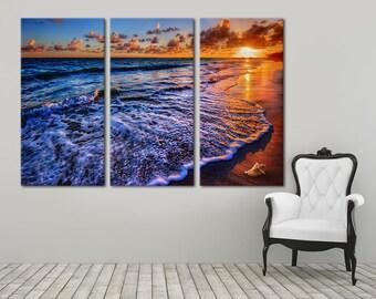 Beach Wall Art sunset wall art | etsy
