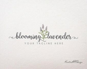 Lavender logo, Photography logo, Logo design, Flower logo, Natural, Premade logo, Watermark 344