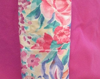 """Insulated curling iron pouch,insulated travel iron bag,insulated flat iron pouch,6"""" x 13.5"""", two outer pockets, created in Duluth, Minnesota"""