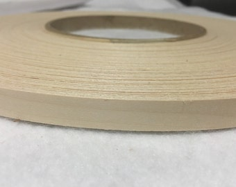 "White birch preglued wood veneer edgebanding   [1/2""to 3""x250']"