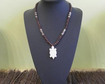 Native American ethnic necklace stone