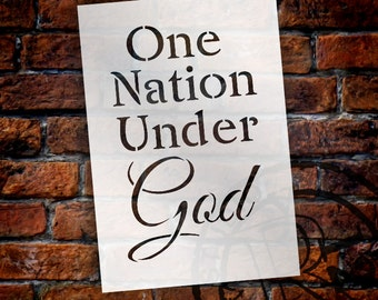 One Nation Under God - Word Stencil - Select Size - STCL1246 by StudioR12