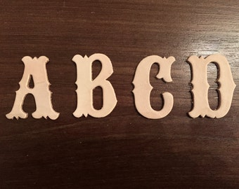 Leather Letters Die Cut