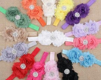 Gorgeous Chiffon Flower Headband - Special Occasion Headband - Fancy Headband - Baby Headbands - Dress up Headband - Holiday Hair Bows