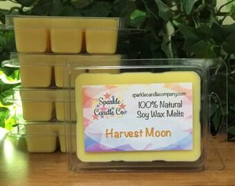 Soy Wax Melts - HARVEST MOON - Highly Scented - Fall Wax Melts - Autumn - Wax Tarts