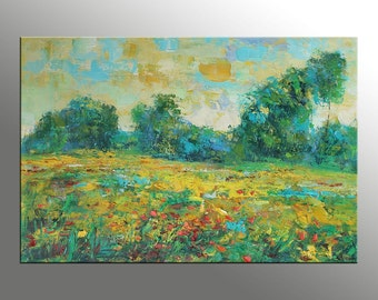 Canvas Painting, Large Wall Art Painting, Abstract Art, Modern Art, Oil Painting Landscape, Large Abstract Painting, Oil Painting Original