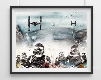 Star Wars Stormtrooper Art  -  Home Decor - Star Wars Stormtrooper - velvet storm