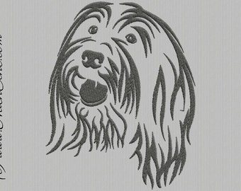 Embroidery Bearded Collie 1
