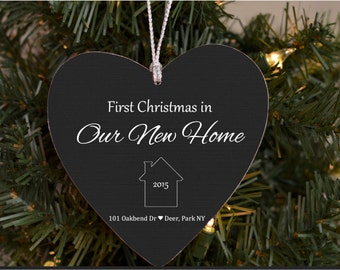 First Home Ornament, Our First Home, Christmas Ornament, Personalized, Custom Ornament, Housewarming Gift, New Home, First house, 1st Home