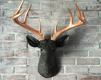 ANY COLOR XL Deer Head Wall Hanging // Faux Taxidermy // Fake