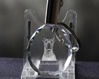 Xoloitzcuintli, Mexican Hairless Dog, Dog Crystal Keyring, Keychain, High Quality, Exceptional Gift