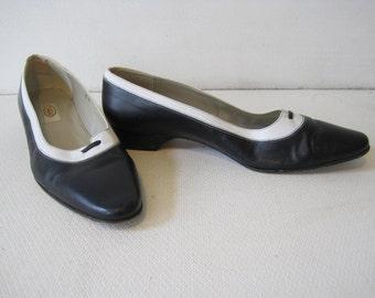 TALBOTS Dress Shoes Size 9 M Low Heel Women's Ladies Vintage A1057z