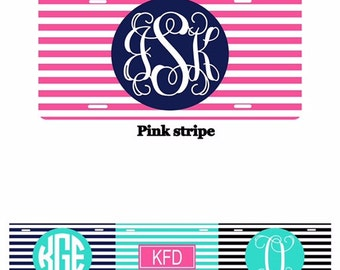 Personalized License Plates - monogram