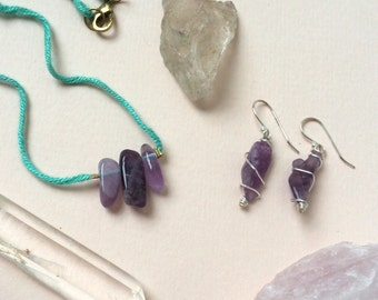 Handmade Amethyst Jewelry Set