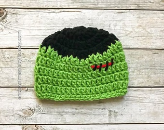 Crochet Frankenstein Hat