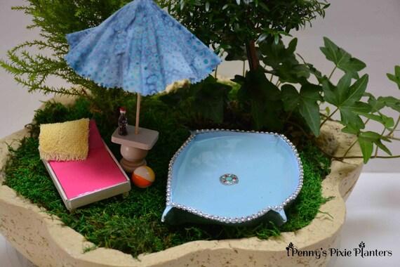 Miniature Swimming Pool Set Dollhouse Swimming Pool Set Mini