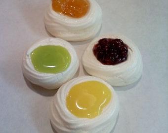 2 Dozen Mini French Meringue Bowls ~ Oval or Round You Choose ~