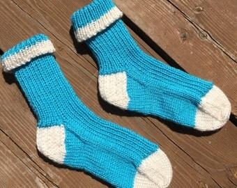 Size 6-8, Knitted Socks, Warm Winter Socks