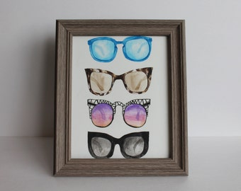 Sunglasses Illustration - Digital File