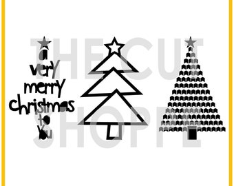The Deck the Halls cut file includes 3 Christmas tree images, that can be used for your scrapbooking and papercrafting projects.