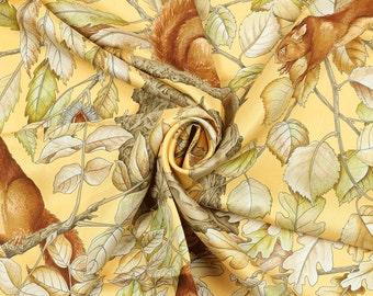 """HERMES SCARF Silk """"Casse Noisette"""" by Antoine De Jacquelot 90cm Carre 100% Auth"""