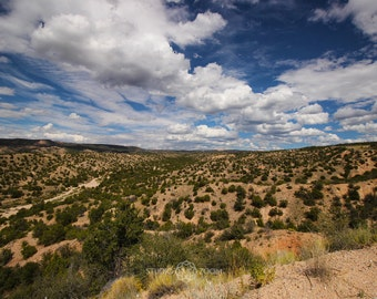 New Mexico Desert Landscape Photography Print, Southwestern Wall Art, Taos, Santa Fe Home Decor
