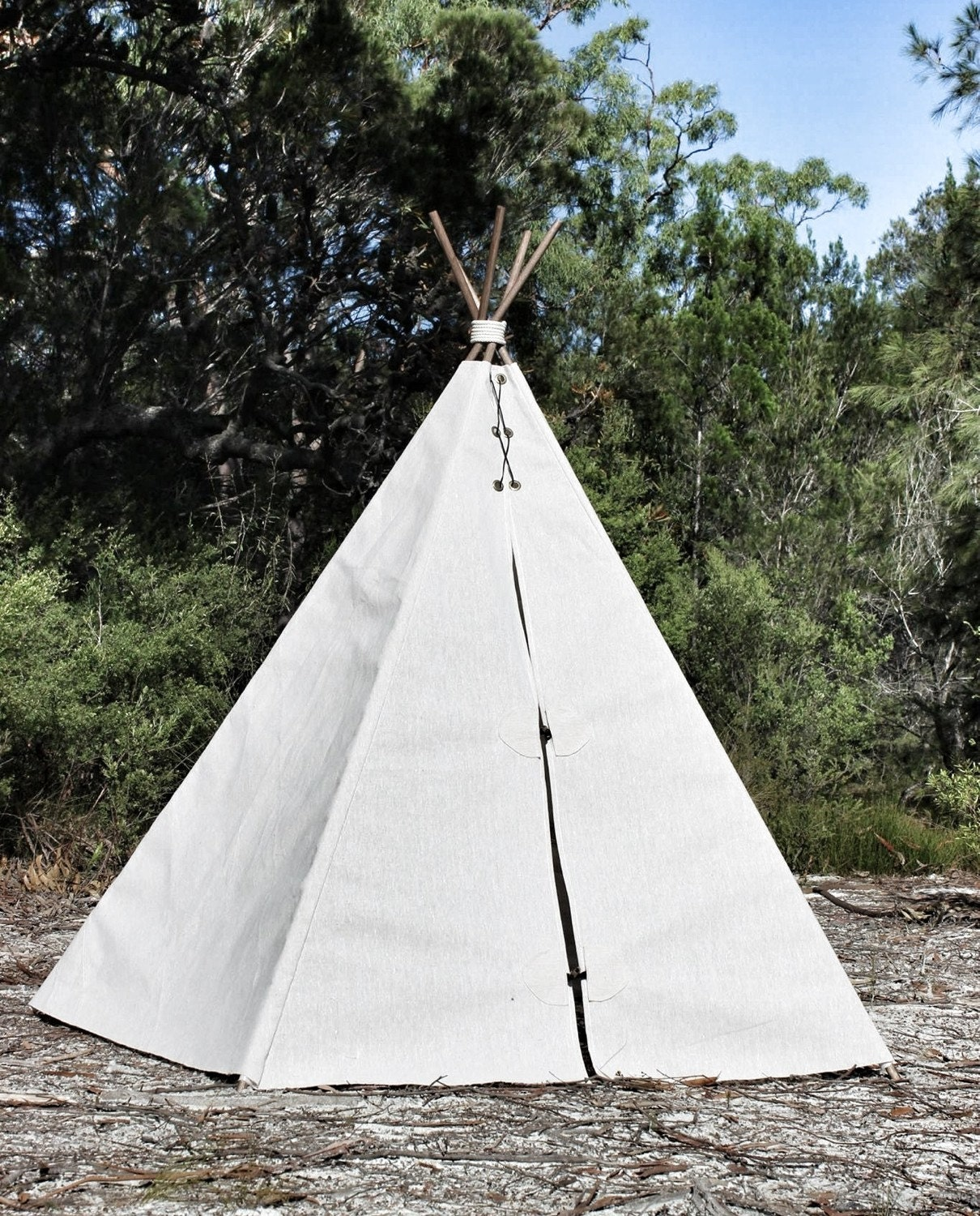 Large outdoor canvas Teepee tent 1.9m high x 1.6m wide handmade wigwam tepee TENT ONLY festival gl&ing gypsy wedding prop & Large outdoor canvas Teepee tent 1.9m high x 1.6m wide handmade ...