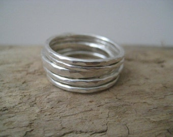 Sterling Silver Stacking Rings, Sterling Stacking Rings, Simply Stacked Rings