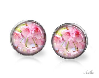 Earrings flowers - cherry blossom 18