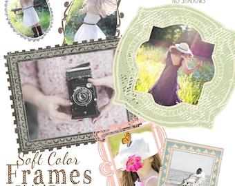 Pastel Frames,  Digital Frames, psd Frames, Scrapbook Frames, Frame Clipart, Assorted Frames, Instant Download