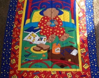 Paddington Bear Fabric Panel