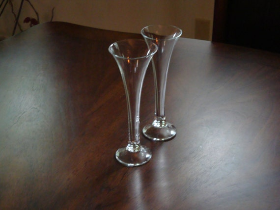 Crystal Hand Blown Hollow Stem Champagne Flutes Or Toasting