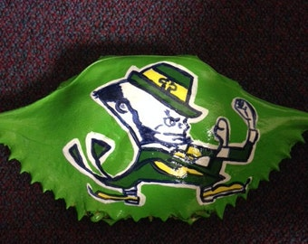 Notre Dame Fight Irish Painted Crab Shell