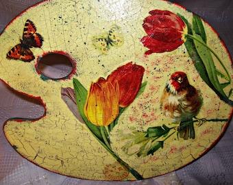 Decoupage Picture / Decor Аrtist Palette /Home decor